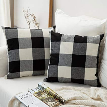 buffalo plaid pillow case